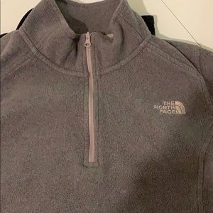 Grey half zip
